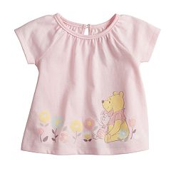 Disney's Winnie the Pooh & Piglet Baby Girl Glittery Graphic Tee by Jumping Beans®