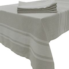 Food Network™ Linen Stripe Tablecloth & Napkin Set