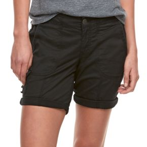Petite SONOMA Goods for Life? Ribbed Waist Utility Bermuda Shorts