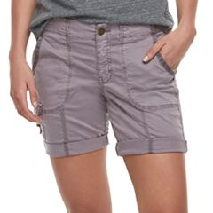 Petite SONOMA Goods for Life™ Ribbed Waist Utility Bermuda Shorts