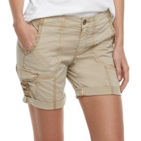 Petite SONOMA Goods for Life™ Ribbed Waist Utility Bermuda Shorts