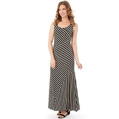 Women's Apt. 9® Mixed Stripe Maxi Dress