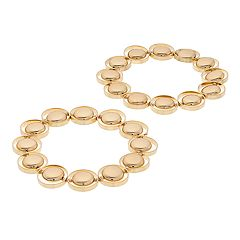 Circle Link Stretch Bracelet Set