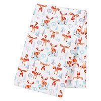 Trend Lab Winter Moose Jumbo Deluxe Flannel Swaddle Blanket