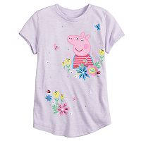 Girls 4-10 Jumping Beans® Peppa Pig Glitter Graphic Slubbed Tee