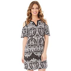 Women's Apt. 9® Cold-Shoulder Shift Dress