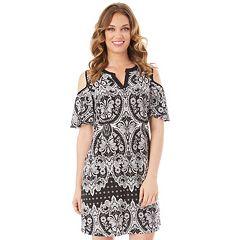 Women's Apt. 9® Cold-Shoulder Shift Dress