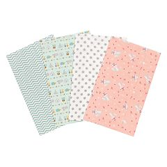 Trend Lab Wild Southwest 4-Pack Flannel Burp Cloths