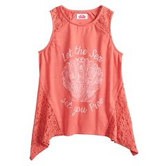 Disney Princess Girls 7-16 Lace 'Let the Sea Set You Free' Graphic Tank Top