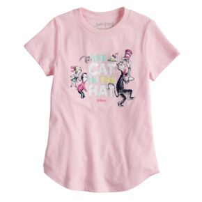 "Girls 4-6x Jumping Beans® Dr. Seuss ""The Cat In The Hat"" Foiled Graphic Tee"