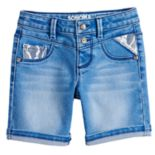 Girls 4-12 SONOMA Goods for Life? Double-Button Stretchy Denim Bermuda Shorts