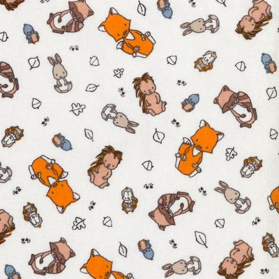 Trend Lab Wild Bunch Deluxe Flannel Fitted Crib Sheet