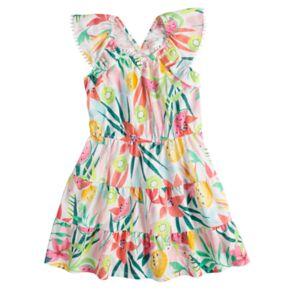 Girls 4-12 SONOMA Goods for Life? V-Back Ruffle Dress