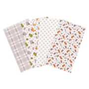 Trend Lab 4-pk. Wild Bunch Flannel Burp Cloth Set