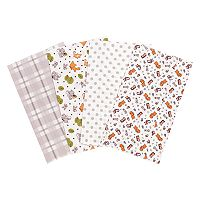 Trend Lab 4 pkWild Bunch Flannel Burp Cloth Set