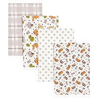 Trend Lab 4-pk. Wild Bunch Flannel Swaddle Blankets
