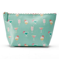 LC Lauren Conrad Vacation Cocktails Scalloped Cosmetic Bag