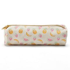 LC Lauren Conrad Canvas Fruit Cosmetic Brush Bag