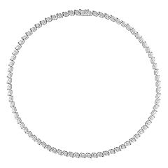 Stella Grace Sterling Silver 1/2 Carat T.W. Diamond Necklace
