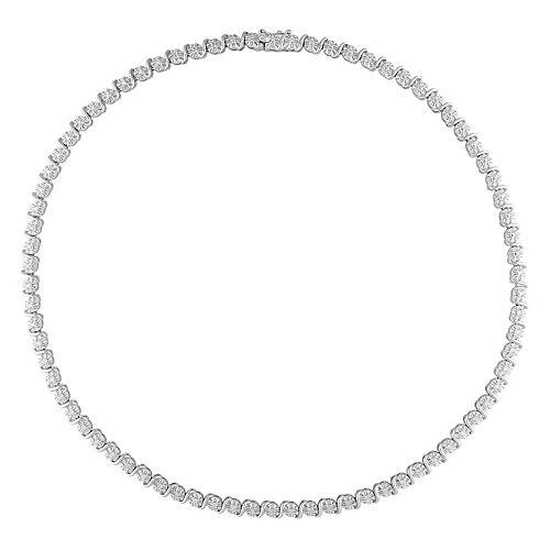 Stella Grace Sterling Silver 1/2 Carat T.W. Diamond Necklace