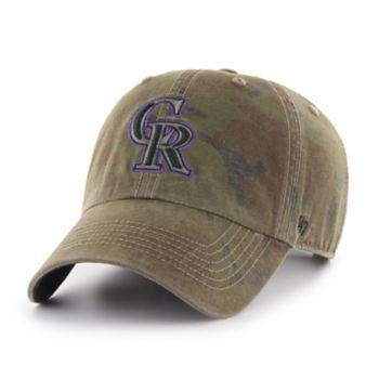 Men's '47 Brand Colorado Rockies Sector Clean Up Hat