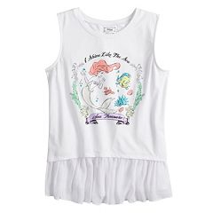 Disney Princess Girls 7-16 Lace 'I Shine Like the Sea' High-Low Yoryu Ruffled Tank Top