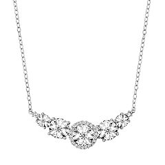 Stella Grace Sterling Silver 1/6 Carat T.W. Diamond Swag Necklace