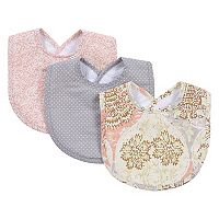 Waverly Baby by Trend Lab 3 pkRosewater Glam Bib Set
