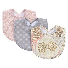 Waverly Baby by Trend Lab 3-pk. Rosewater Glam Bib Set