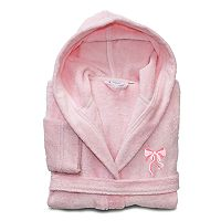 Linum Home Textiles Kids Bow Turkish Cotton Hooded Terry Bathrobe