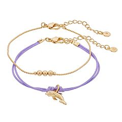 LC Lauren Conrad Dolphin Friendship Bracelet Set