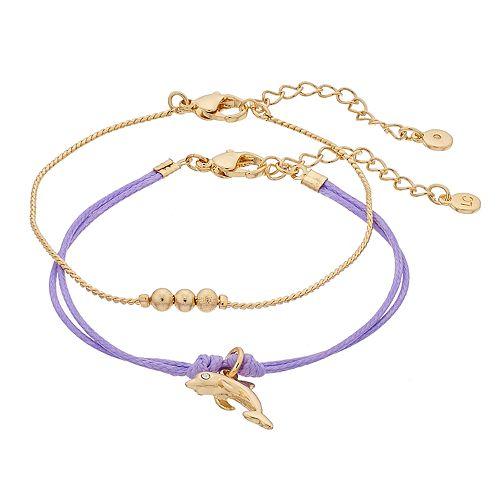 LC Lauren Conrad Dolphin Friendship Bracelet Set