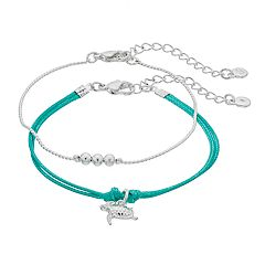 LC Lauren Conrad Turtle Friendship Bracelet Set