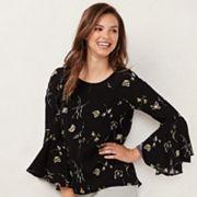 Women's LC Lauren Conrad Bell-Sleeve Top