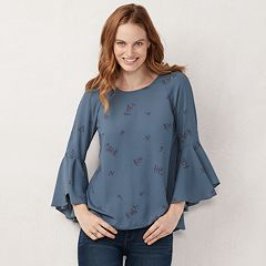 Women's LC Lauren Conrad Flutter Sleeve Top