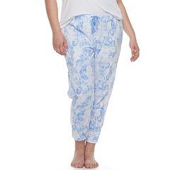 Plus Size SO® Printed Jogger Pajama Pants