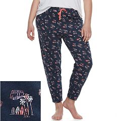 Plus Size SO® Printed Jogger Pajama Pants