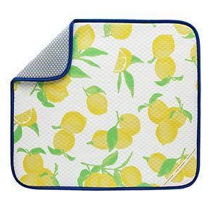 Food Network? Lemon-Print Dish Mat