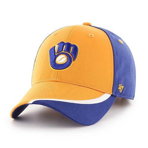 7e7d03378f41c9 Adult '47 Brand Milwaukee Brewers Stitcher MVP Hat