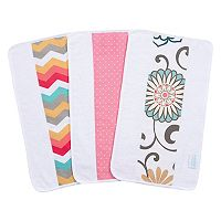 Waverly Baby by Trend Lab Pom Pom Play 3-Pack Jumbo Burp Cloth Set
