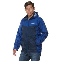 Men's Columbia Weather Drain Interchange Colorblock 3-in-1 Hooded Jacket