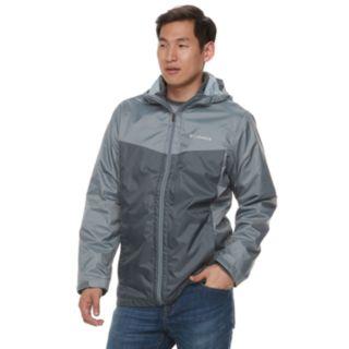 Men's Columbia Weather Drain Interchange Colorblock 3-in-1 Hooded Jacket