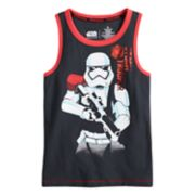 "Boys 4-7x Star Wars a Collection for Kohl's ""Storm Trooper"" Tank"