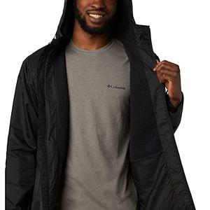 Men's Columbia Weather Drain Hooded Sherpa-Lined Rain Jacket