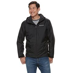 Men's Columbia Weather Drain Hooded Sherpa-Lined Rain Jacket