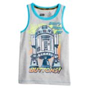 "Boys 4-7x Star Wars a Collection for Kohl's ""Don't Push My Buttons"" R2D2 Tank"