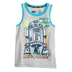Boys 4-7x Star Wars a Collection for Kohl's 'Don't Push My Buttons' R2D2 Tank