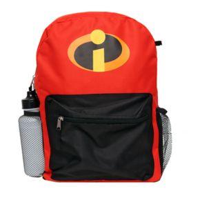 Disney / Pixar's The Incredibles Kids Backpack, Lunch Tote, Cinch Bag, Gadget Case & Water Bottle Set