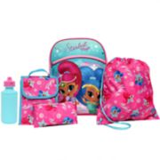 Kids Shimmer & Shine Backpack, Lunch Tote, Cinch Bag, Gadget Case & Water Bottle Set