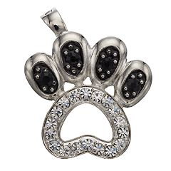 wearable ART Paw Print Pendant